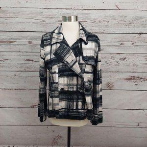 3/$30 Simply Vera Double Breasted Pea Coat Black M
